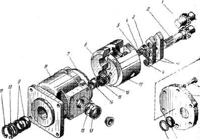 Схема насоса НШ-32.